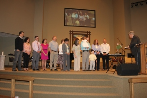 Lillie's dedication service at Grace Pointe Nazarene
