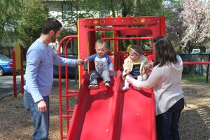 Cousins and their kids...Jason, Jax, Lillie and Kim