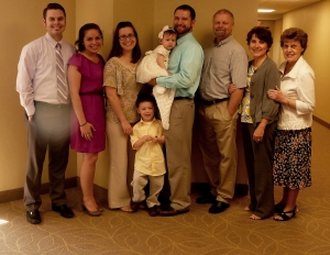 Our family at Lillie's dedication