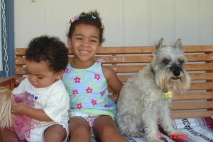 Jayla & Destanee with Scottie Albuquerque 2005