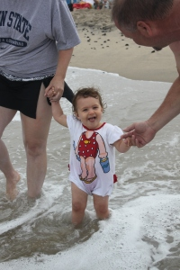 Lillie LOVES the ocean!