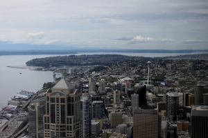 Seattle from the 73rd floor of the Columbia Center