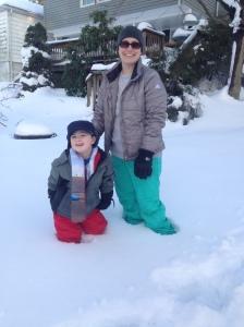 Snow fun - Cole & Kim
