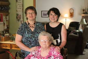 Me with Becky and her momma, Pauline