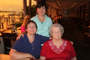 In Florida with Becky and her mom Pauline