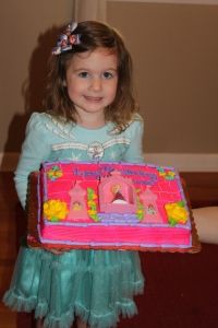 Princess Lillie celebrating her 3rd birthday