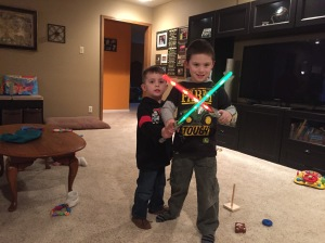 Star Wars light sabers!