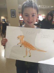 Cole's drawing of a dino